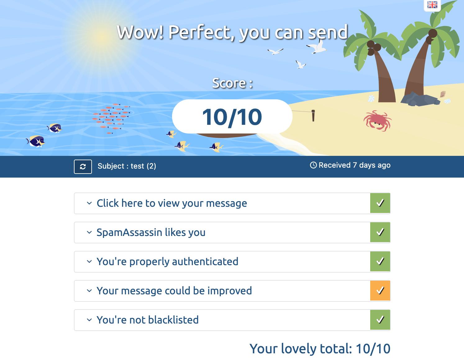 Spam_Test_Result